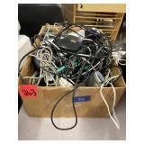 box lot computer cords, mice