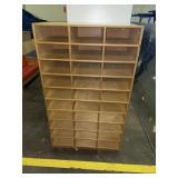 wooden paper sorter/cubby