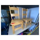lot of 2 toddler wood chairs