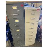 lot of two file cabinets