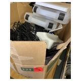 box lot, cords, cases