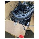 box lot metal cable, cords