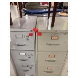 lot of 8 metal filing cabinets