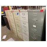 lot of 5 metal filing cabinets