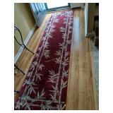 "Bamboo Pattern Wool Runner Rug 121x30"""