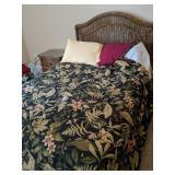3 Pc Full Sz Brown Wicker Bedroom Suite