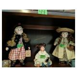 Shelf Lot Of Dolls. Yesterday