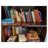 2 Shelves Of Books. Novels, Type Talk At Work,