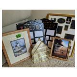 Picture Frames, Glass Curio Etc