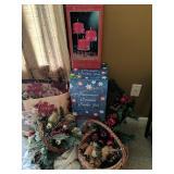 Christmas Decorations, Baskets, Snowman Ceramic