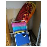 Beach Chairs, Boogie Board