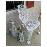 Casa Aluminum Garden Chair, Snowman, Angel