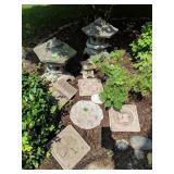 Oriental Concrete Garden Statue, Stepping Stones,