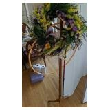 Oak Hall Tree, Butterfly Wreath, Hula Hoop