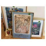 Framed Art Prints. Edna Hibel Art Show