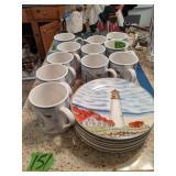 Lighthouse Dishes, Mugs