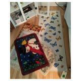 """60"""" Butterfly Runner, Snowman Floor Mat Etc"""