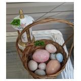 Musical Lipstick Case, Polished Alabaster Eggs