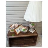 Seashell Table Lamp, Seashells, Rolling Cart