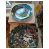 David Winter Cottages, Decorative Plates, Table