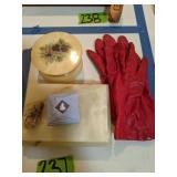 Onyx Trinket Box, Dresser Dish, Gloves