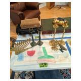 Seiden Brass Original Candle Holders, Menoras