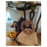 Chair, Basket, Flowers, Wreaths