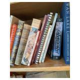 Shelf Lot Of Books. Arabian Nights, Novels, Uncle