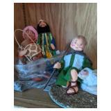 Shelf Lot Anna Lee Dolls. The Nativity 87