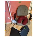 Floor Lamp, Office Chair, Gel Pillows