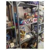 Metal Shelf, Lawn Sprinkler, American Flag, Work