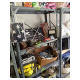 Metal Shelf, Tool Set, Movie Camera, Simpson