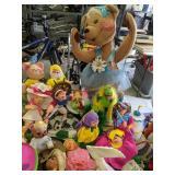 Annalee Dolls. Bear, Fisherman, Earth Day Etc