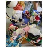 Two Totes Anna Lee Dolls. Horse, Snowman, Santa