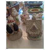 Lenox Christmas Figurines. Snowman, Santa Etc