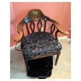 Armchair, Black Faux Fur Throw Blanket