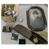 Assorted Flatware, Marbles, Vfw Hats, Pocket