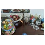 Fish Snow Globe, Bowl, Candle Holders Etc