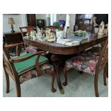 Dining Room Table With Six Chairs Ball And Claw