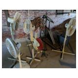 Fans, Exercise Bike, Folding Table, Treadmill