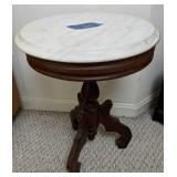 Marble Top Victorian Style Plant Stand