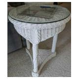 Wicker Plant Stand/ End Table