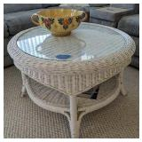 Wicker Coffee Table, Bowl