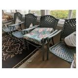 4 Green Patio Chairs
