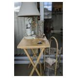 Seagull Lamp, Tray Table, Dish Rack Stand
