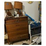 Dresser, Block And Tackle Lamps, Chair Etc