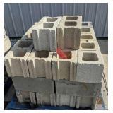 Pallet Of Cinder Blocks As Shown