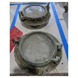 Pair Of 5-in Wide Glass Porthole Windows