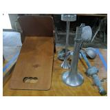Kneeling Board, Horns, Weather Anemometer