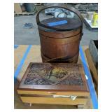 18xx shaker firkin sugar/mince meat Wood Bucket,